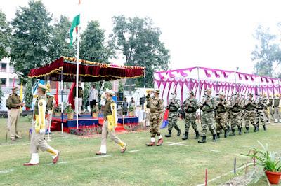 सीआईएसएफ पनकी इकाई ने धूमधाम से मनाया 72वां गणतंत्र दिवस