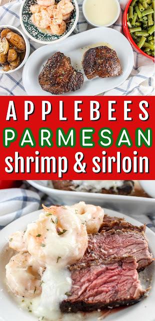 Copycat Applebees Shrimp & Parmesan Sirloin