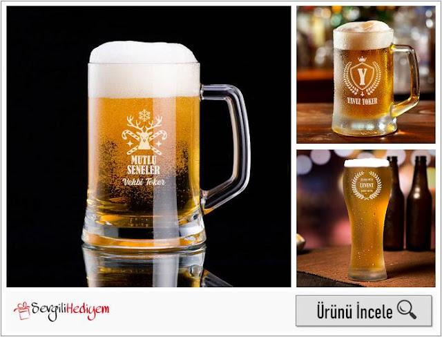 Yılbaşı Geyiği İsme Özel Bira Bardağı