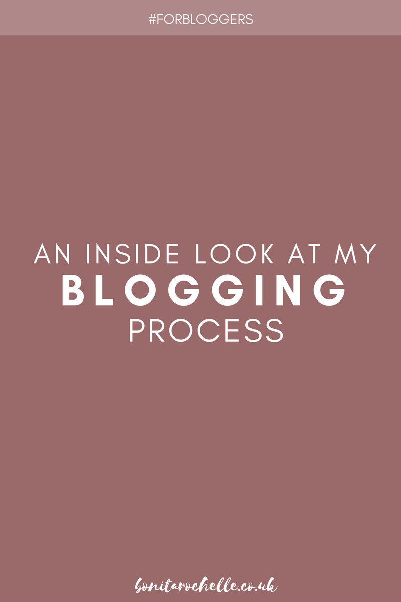 An inside look at my blogging process