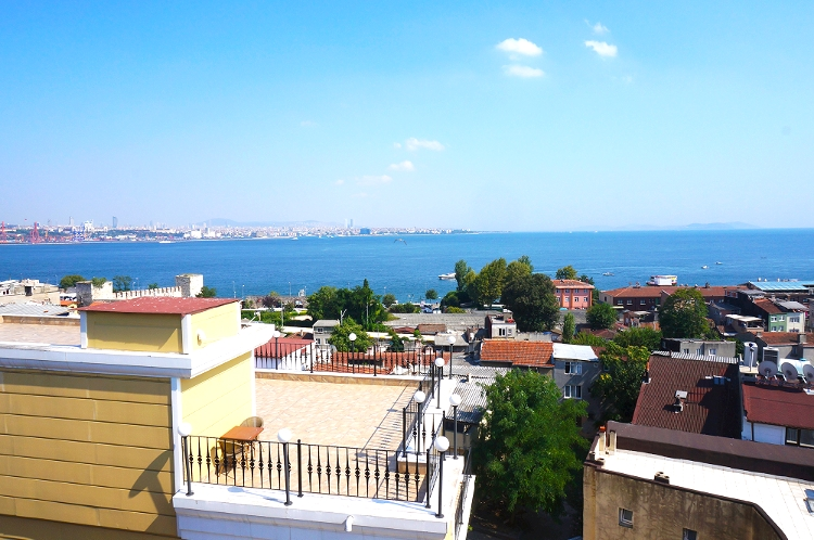 Euriental | Istanbul, Turkey. View from Byzantium hotel restaurant
