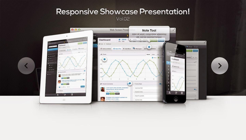 Responsive Showcase PSD