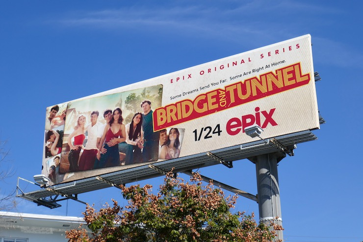 Bridge and Tunnel series launch billboard