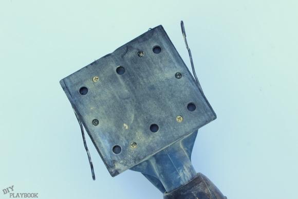 The underside of the Ryobi sander