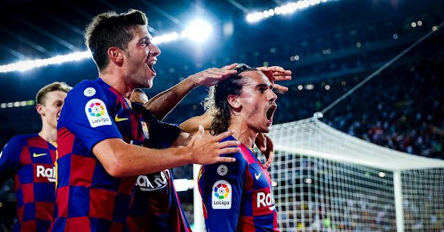 La Liga   Griezmann, Camp Nou'ya 2 golle 'merhaba' dedi...