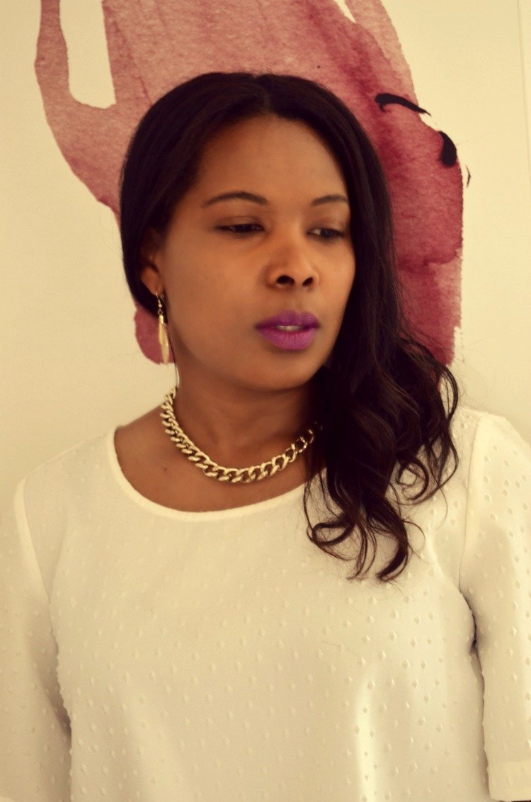 Thick Chunky Gold-tone Vintage Chain Link Collar Necklace {DIY}