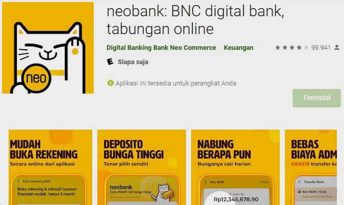 aplikasi neobank