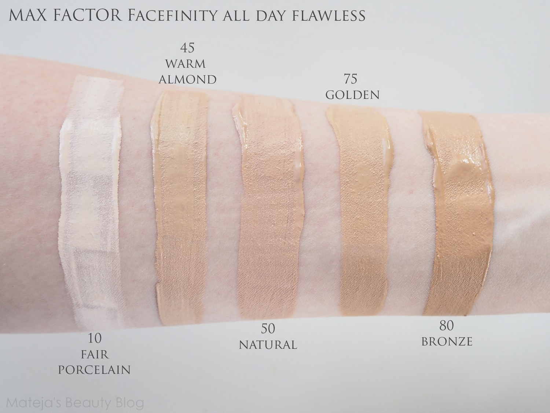 max factor facefinity foundation shades