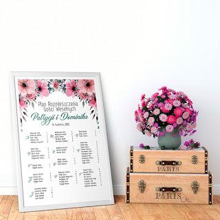 Ślubny pomocnik - plan stołów na wesele