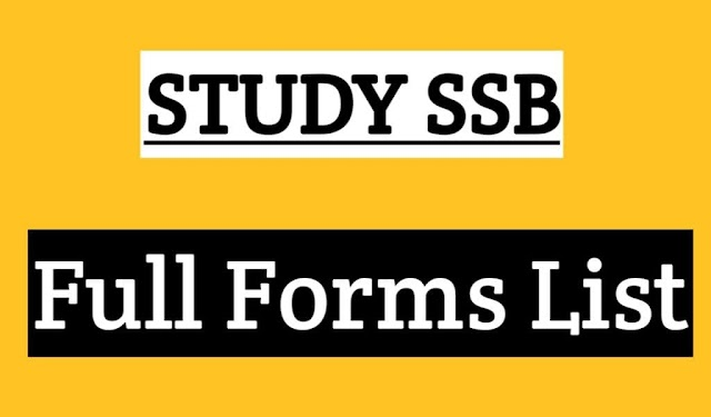 SSB Full Form and What is Full Form of SSB Explained