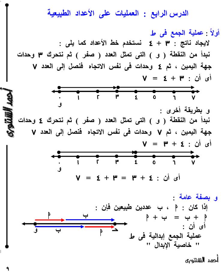 ملزمة رياضيات لـ خامسة إبتدائي الترم الأول لعام 2021
