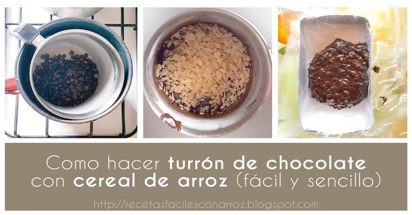 turron chocolate arroz inflado fototutorial