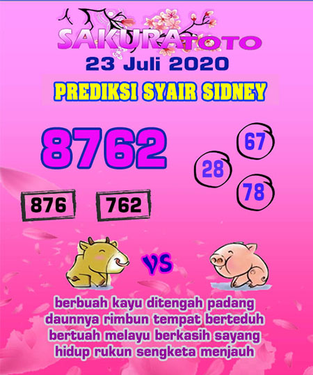 Sakuratoto Sydney Kamis 23 Juli 2020