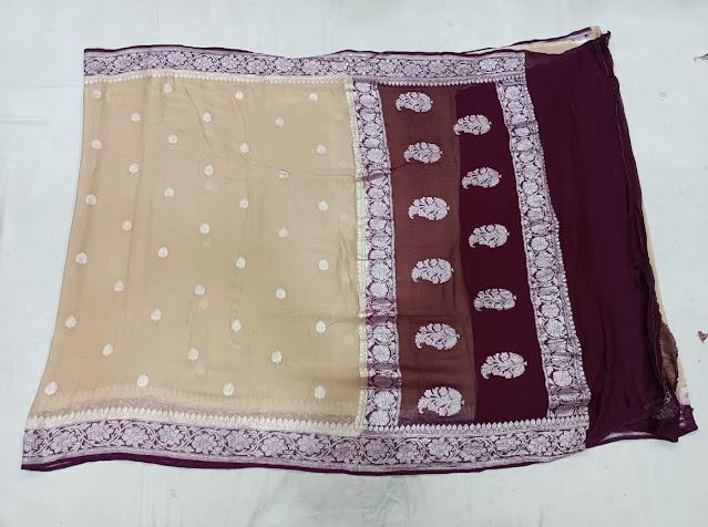 Kadwa chiffon Banarasi saree