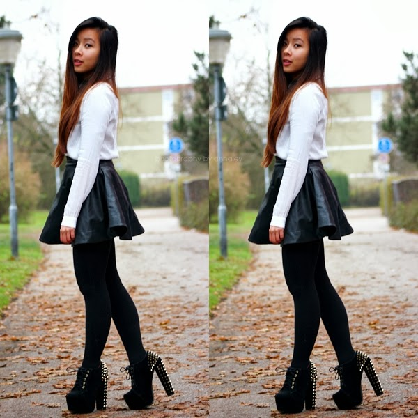 Outfit Mit Lederrock Lederrock Outfit - Annaley