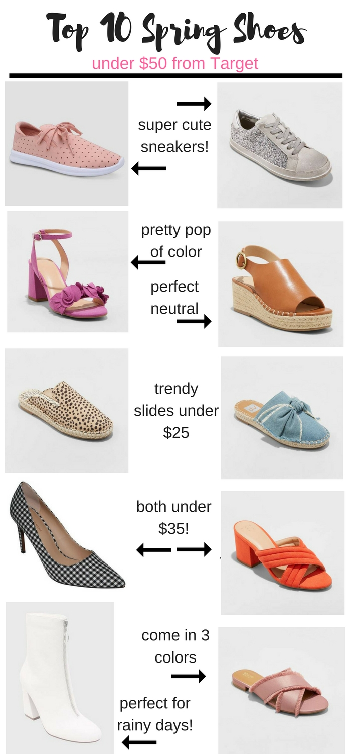 spring shoes from target under $50