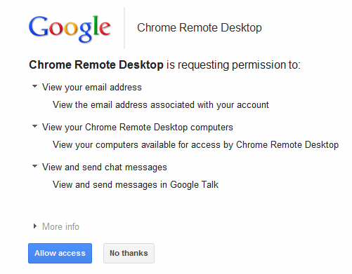 Remote Desktop Access Comes to Google Chrome!