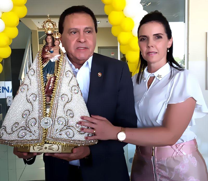 JOÃO CHAMON NETO RECEBE NOSSA SENHORA NA SECRETARIA DO CENTRO REGIONAL DE GOVERNO DO PARÁ VEJA