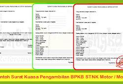 3 Contoh Surat Kuasa Pengambilan Bpkb Stnk Motor Mobil