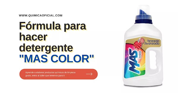 ▷ Detergente MAS COLOR aroma a CHICLE para ropa