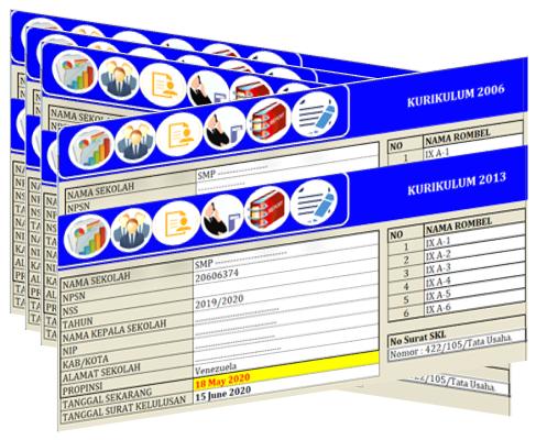 Aplikasi SKHUS 2020 Lengkap Dengan Keterangan Kelulusan SMP (K-2006 Dan K-2013)