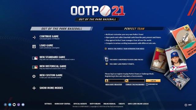 In the Out Of The Park Baseball 21 sports strategy, the user is invited to take a place in the management of the basketball team.