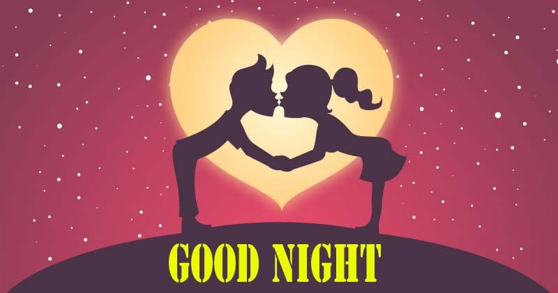 Animated Good Night Couple Kiss Images, Lovers, GF, BF