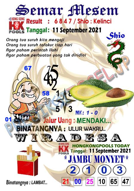 Prediksi Syair HK Semar Mesem Sabtu 11-Sep-2021