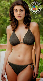 South Indian Avtress Hansika Motwani Hot Bra and Panty Shows in Black Bikini - NetLogsHub