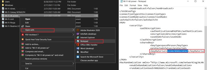 How to find Wi-Fi password on windows