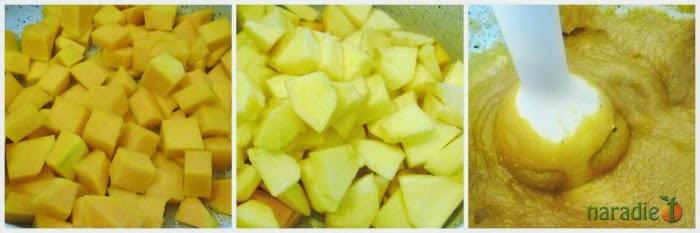 mermelada de manzana y calabaza - preparación