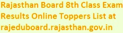 Rajasthan Board 8th Class Result 2019 Name, Roll No. Wise Online