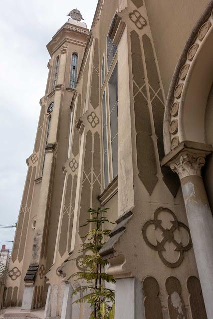 Igreja Imaculado Coração de Maria - vista parcial da lateral