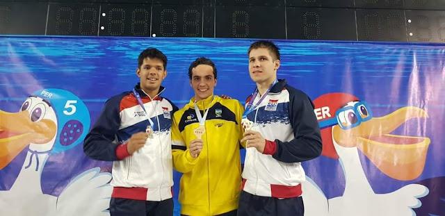 Seis medallas en el Suda de Natación