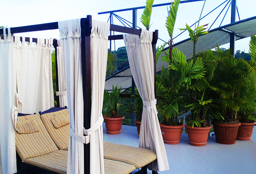 hotel private rooftop terrace lounge chairs