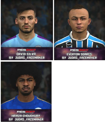 PES 2017 David Silva, Everton and Choudhury Face by Judas Facemaker