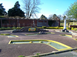 The Crazy Golf course at Happy Mount Park in Morecambe in April 2012