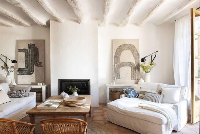 Interior design per la casa di città che sembra in campagna