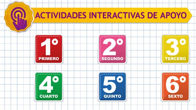 Actividades interactivas de primaria para fortalecer Aprende en Casa II