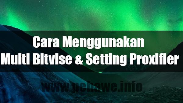 Cara Menggunakan Multi Bitvise dan Setting Proxifier