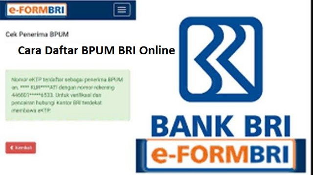 Cara Daftar BPUM BRI Online
