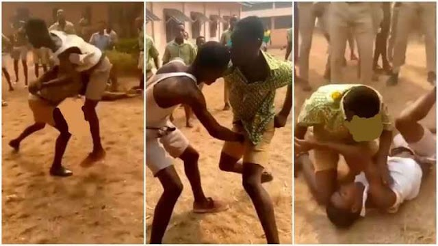 Two SHS Students Spotted K!ll!ng Themselves Over A Girl [Watch Video]