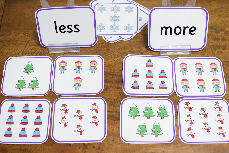 LESS AND MORE SORTING CARDS
