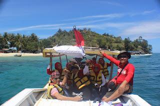 Boat Menuju Pulau Swarnadwipa