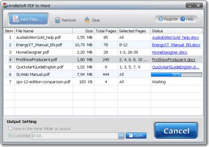 Anybizsoft PDF to Word V.3.0.0.1 Full Version