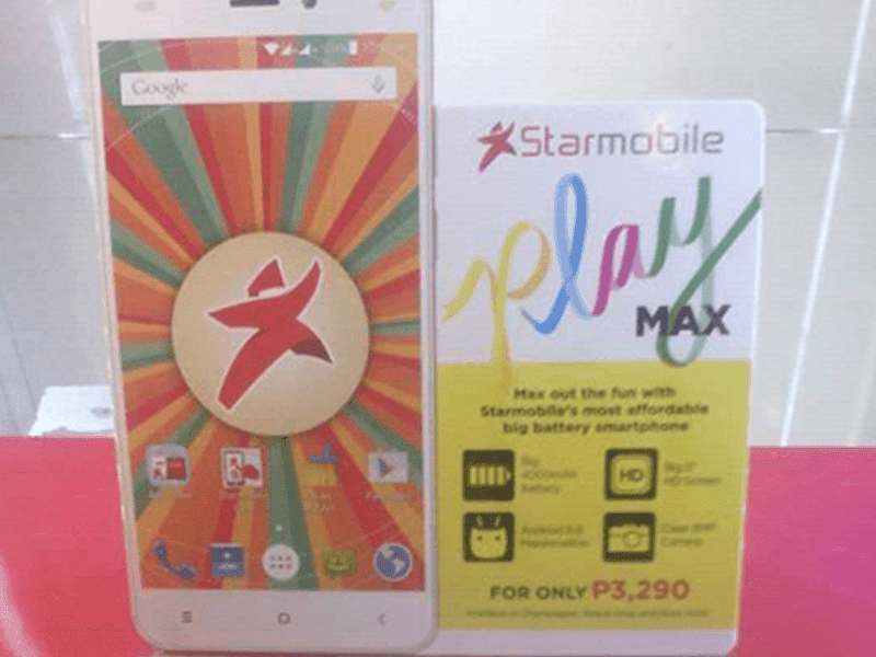 Starmobile Play Max Spotted, Boast An HD Screen, Marshmallow OS, And 4000 mAh Battery For 3290 Pesos Only!