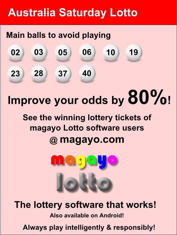 Nsw Saturday Lotto Results Australia