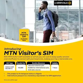 MTN Visitors SIM Plan