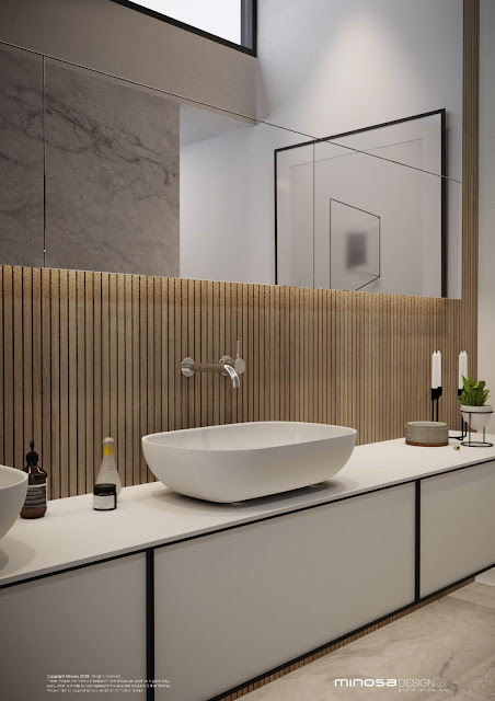 Minosa the parents retreat replaces the ensuite for Modern ensuite bathroom designs