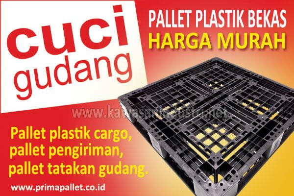 Cuci Gudang Pallet Plastik Bekas Murah Ukuran 110 x 110 x 15 cm